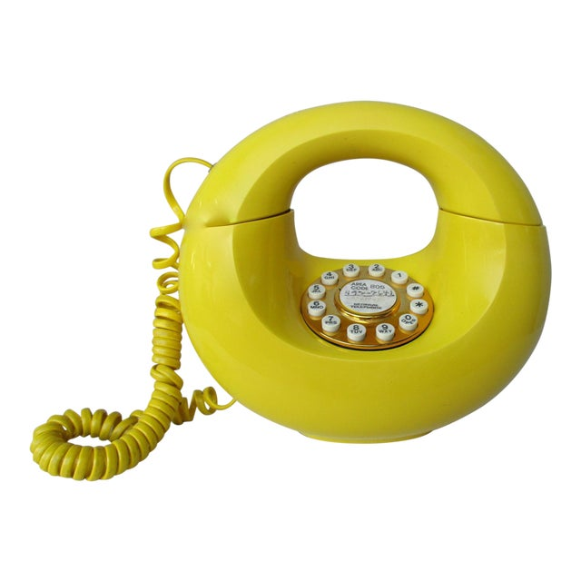 Bright Yellow Sculptura Donut Telephone Phone - Image 1 of 11