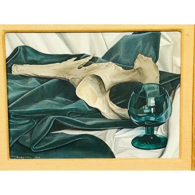 Italian Luigi Lucioni Oil on Canvas Still Life For Sale - Image 3 of 9
