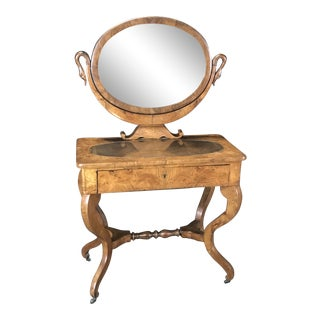 Mid 19th Century French Walnut Dressing Table For Sale