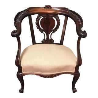 Mahogany Horseshoe-Back Chair