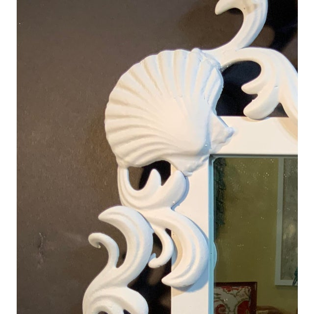 Metal Sea Shell Iron Mirror For Sale - Image 7 of 13
