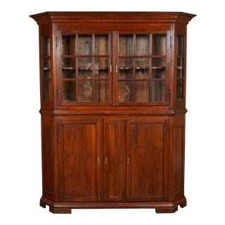Danish Baroque Display Cabinet, Late 17th C For Sale