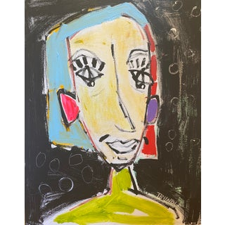 """""""Don't Call Me Shirley"""" Contemporary Abstract Figurative Painting by Sarah Trundle For Sale"""