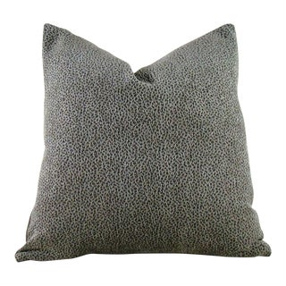 Contemporary Textured Sage and Bronze Pillow Cover For Sale