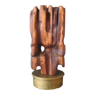 1960s Vintage Dora Masters Organic Abstract Wood Sculpture For Sale