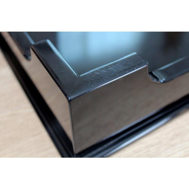 "Oomph ""Edgartown"" Square Black Lacquer Tray - Image 7 of 8"