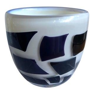 1980s Kosta Boda Atelier Art Glass Vase Signed Von Sydney For Sale