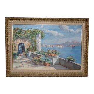 Contemporary Mount Vesuvius Landscape Oil Painting For Sale