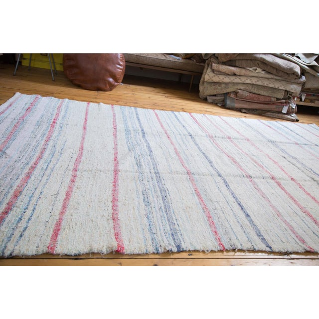 "Vintage Handwoven Rag Rug - 6'7"" x 10'10"" - Image 7 of 8"
