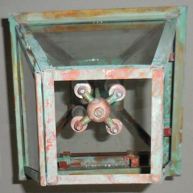 Four Sides Architectural Hanging Copper Lantern - Image 5 of 11
