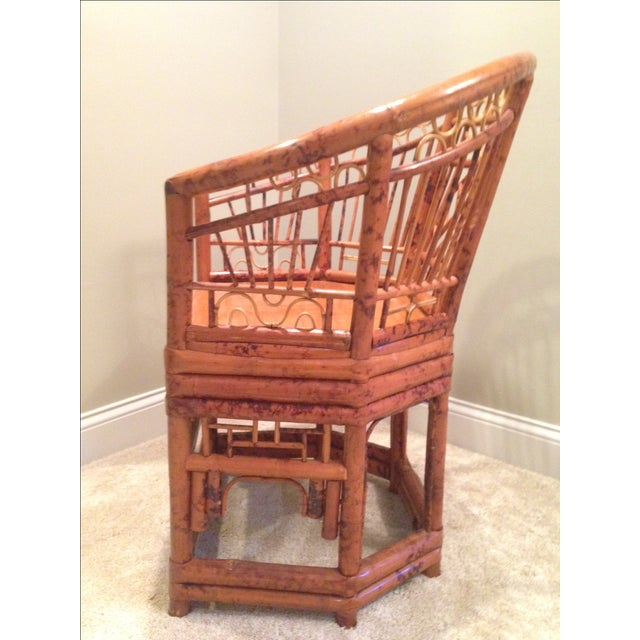 Chinese Chippendale Style Bamboo Chair - Image 4 of 8
