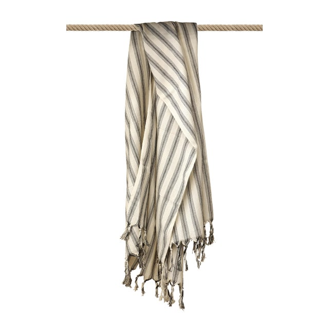 Turkish Hand Made Towel With Natural/Organic Cotton and Fast Drying,39x73 Inches For Sale - Image 12 of 13