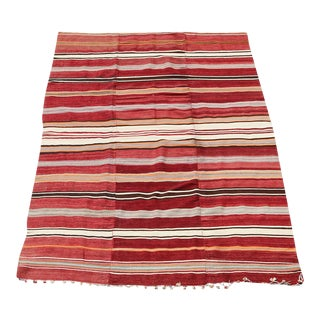 Multi Color Kilim Rug - 5'1''x 8'6'' For Sale