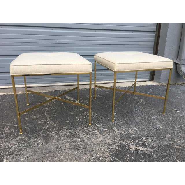 Paul McCobb X-Base Stools - A Pair - Image 6 of 6