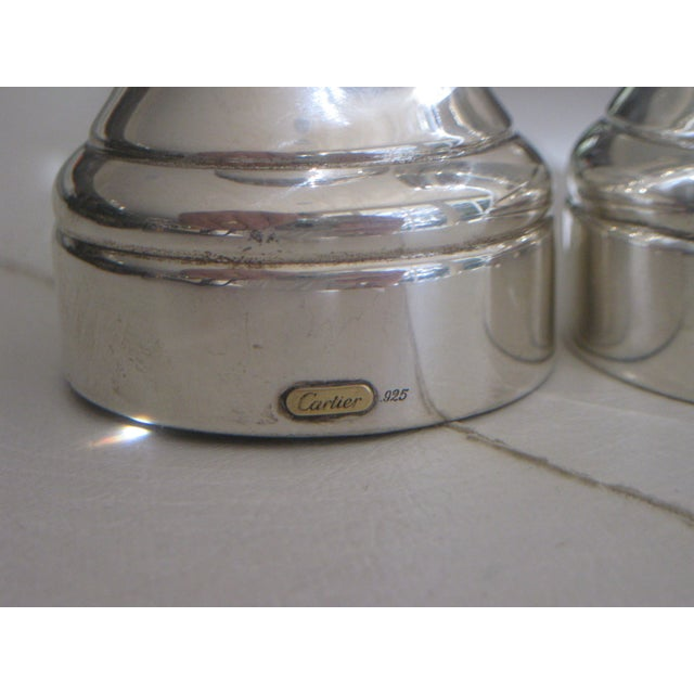 Cartier Sterling Silver Pepper Grinder & Salt Shaker - a Pair For Sale In Orlando - Image 6 of 7