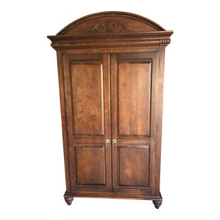 Traditional Ethan Allen British Classics Wood Armoire