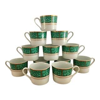 George Briard Vintage Malachite Tea/ Coffee Cups- a Set For Sale