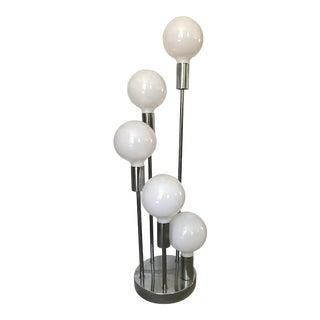 Vintage Mid-Century Modern Sonneman Style Chrome Globe Orb Lamp