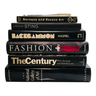 Large Stack of Black Hardcover Books For Sale