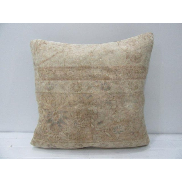 Vintage Turkish Decorative Floral Handmade Pillow For Sale - Image 4 of 4