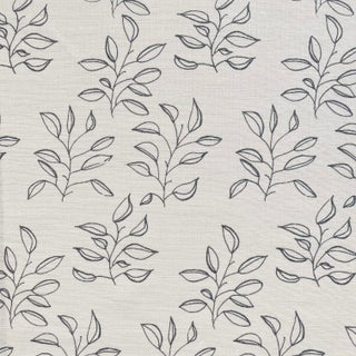 Greige Mya Fabric, Sample, Azure on Oyster in Linen For Sale