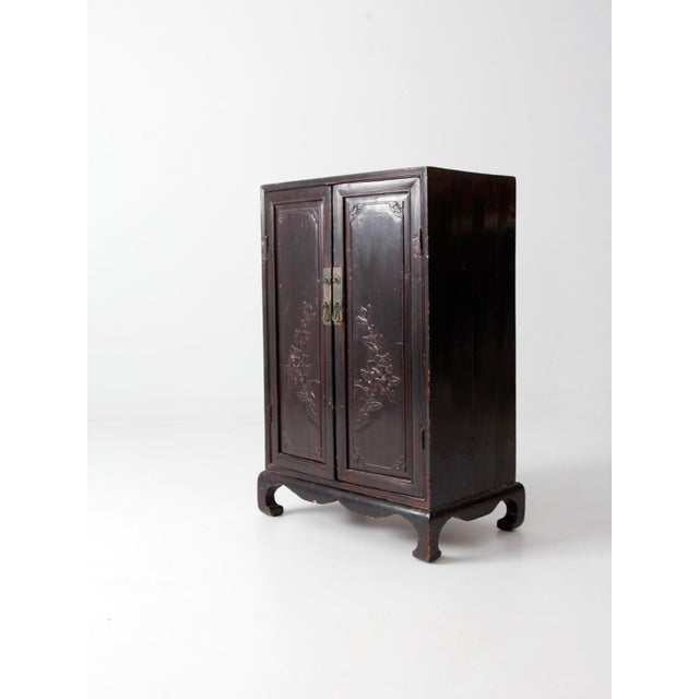 Antique Lacquered Asian Cabinet For Sale - Image 5 of 9