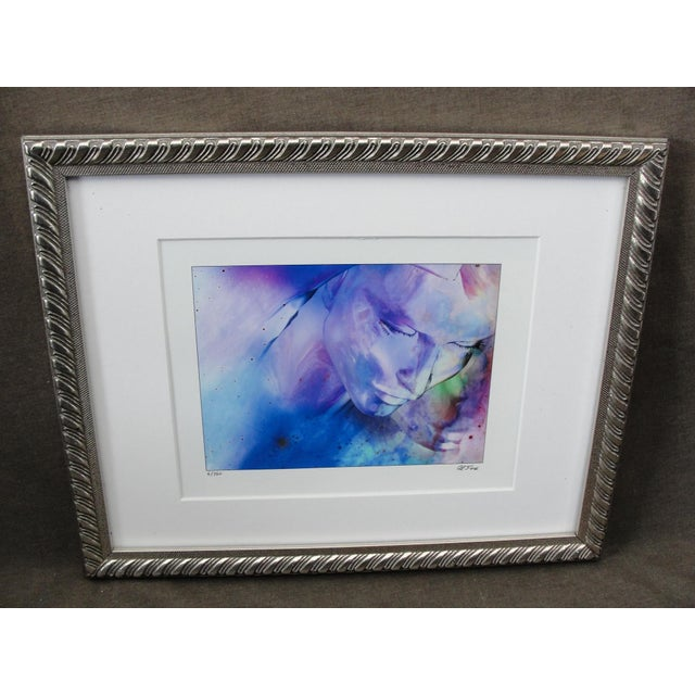 Beautiful Limited Edition Impressionist Print of Woman by Al Foxx. This is a very colorful offset lithograph of a woman's...