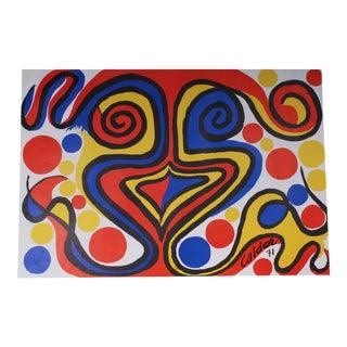 Vintage Alexander Calder Lithograph Exhibition Poster From J. L. Hudson Gallery For Sale
