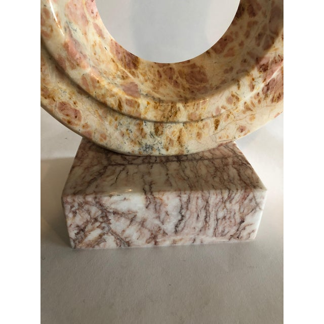 Marble Pink Marble Sculpture For Sale - Image 7 of 10