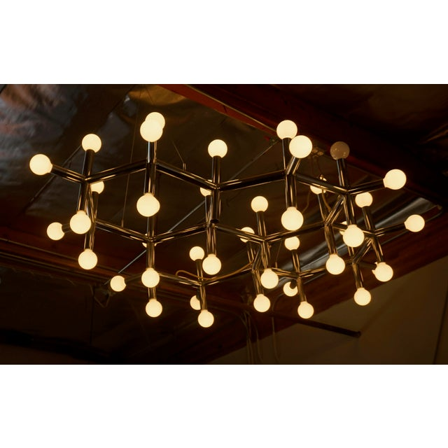 1970s 1960's Atomic Light Fixture by Robert Haussmann For Sale - Image 5 of 8