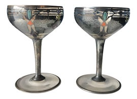 Image of Enamel Wine Glasses and Goblets