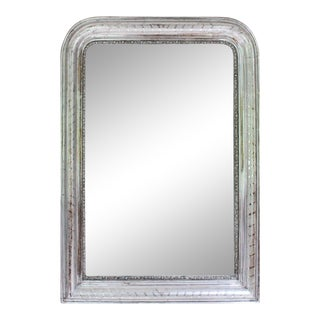 19th Century France Louis Philippe Silver Gilt Mirror For Sale