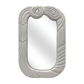 1970s Hand Made Drape-Look Mirror by Don Freedman For Sale
