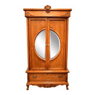 Lexington Furniture Victorian Sampler Oak Media Armoire For Sale