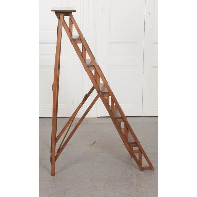 French Early 20th Century Oak Folding Ladder For Sale - Image 4 of 13