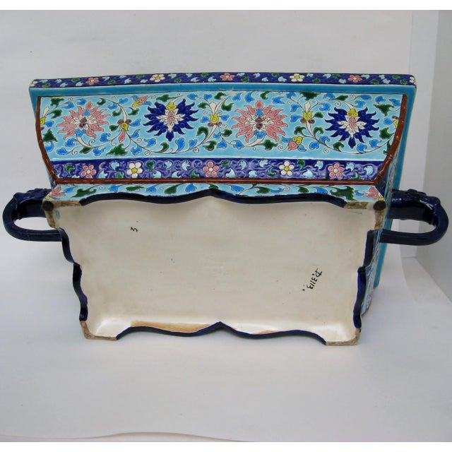 Longwy Ceramic Jardiniere For Sale - Image 9 of 11