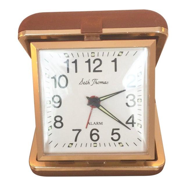 Vintage Seth Thomas Wind Up Travel Alarm Clock Chairish