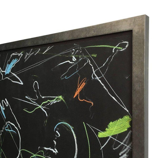 "Paper James C. Harrison ""Underworld / Heavenly Baseball"" Framed Drawings For Sale - Image 7 of 11"