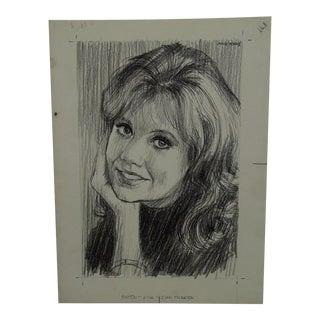 "John Johns Original ""Somebody Famous"" Drawing / Sketch"