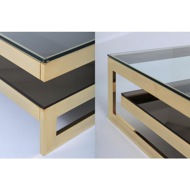 Brass Belgo Chrome Golden G Coffee Table Extra Large For Sale - Image 7 of 12