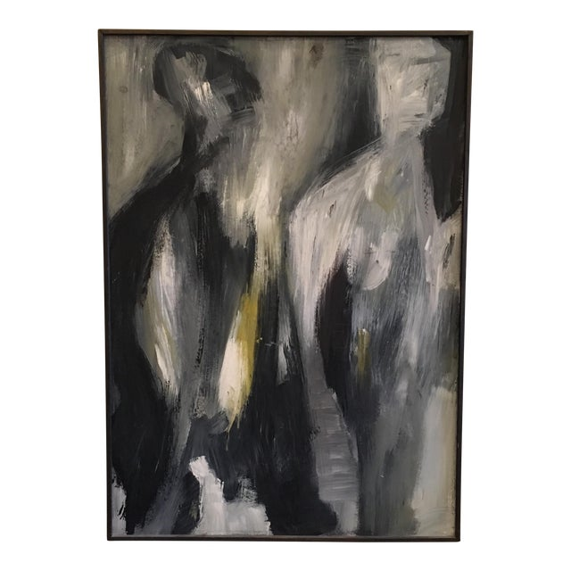 1960's Abstract Figural Oil Painting - Image 1 of 7