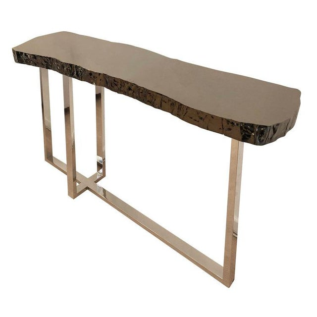 Metal Dark Nickel Console by Ponybox for FormA For Sale - Image 7 of 7