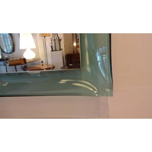 Fontana Arte Very Rare Curved Framed Wall Mirror Italy circa 1958 For Sale - Image 9 of 10