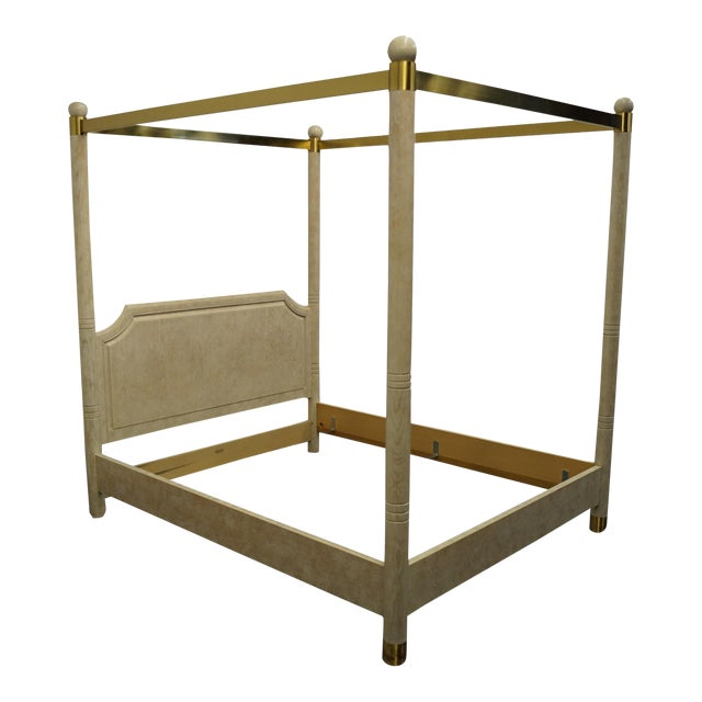 Henredon Furniture Charisma Collection Queen Size Four Poster Canopy Bed For Sale