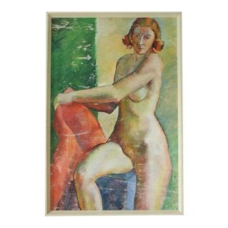 Impressionist Oil of Standing Nude