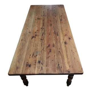 Farm Style Dining Room Table For Sale