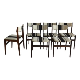Mid-Century Danish Rosewood Erik Buch Dining Chairs - Set of 6