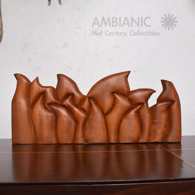 For your consideration an abstract wood sculpture of the last supper. The sculpture is hand carved of solid wood and can...