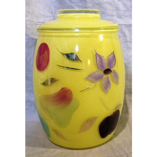 Glass Bartlett Collins Yellow Gay Fad Cookie Jar For Sale - Image 7 of 7