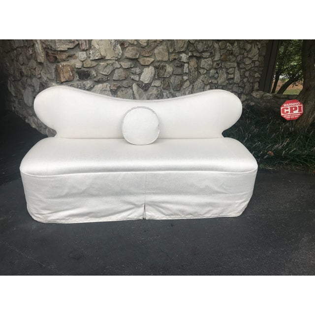 2010s Century Furniture Curvy Settee or Love Seat For Sale - Image 5 of 11
